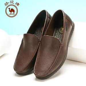 骆驼牌 春季新款男鞋 套脚商务休闲皮鞋耐磨流行男鞋子