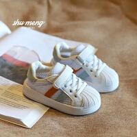 0-1-2-3岁婴儿学步鞋软底小白鞋男女童透气网鞋板鞋春夏季宝宝鞋子
