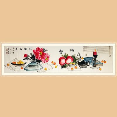 浙江花鸟画家协会会员,职业画家 王建秋(花开富贵)ZH432