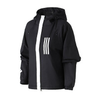 adidas阿迪达斯女服外套夹克2019新款连帽WND防风休闲运动服DZ0034
