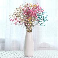 客厅摆件现代简约大件 满天星干花花瓶摆件欧式家居装饰客厅陶瓷插花花器小清新简约现代B