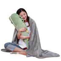 鳄鱼长条枕睡觉抱枕抱着可爱懒人毛绒玩具枕头娃娃公仔女孩萌 绿色