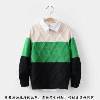 男童毛衣秋冬新款韩版儿童针织衫中大童加绒加厚男孩套头毛线衣服