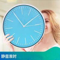 电子石英钟钟表挂钟客厅圆形创意时钟挂表简约现代家庭静音