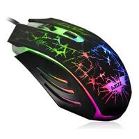 黑爵黑暗骑士鼠标 有线鼠标游戏鼠标 笔记本usb电脑鼠标 七彩发光