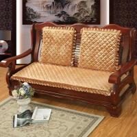 ��木沙�l�|海�d坐�|加厚三人座老式防滑�B�w�L椅�|�t木�|沙�l冬季定制 �色 �色�色
