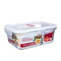 饭盒便当盒耐热玻璃分隔饭盒微波炉专用碗分格长方形餐盒