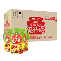 【当当自营】亨氏 Heinz乐维滋果汁泥-2+2苹果草莓番茄胡萝卜120g*24/箱 宝宝辅食(团购电话:010-57992568)