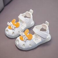 小童公主鞋女幼儿单鞋不掉亮灯鞋夏女宝宝凉鞋婴儿软底学步鞋