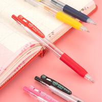 日本斑马ZEBRA JJS15彩色中性笔�ㄠ�笔 按动水笔JJS15 0.4mm