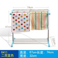 毛巾架落地式小型卫生间免打孔不锈钢置物架浴巾架家用浴室毛巾杆