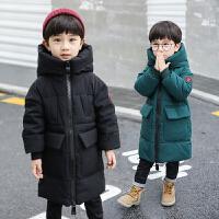 男孩加厚棉袄潮2019冬装新款儿童洋气外套男童中长款棉衣