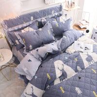 床上四件套全棉公主风床裙纯棉1.51.8m2米双人被套床单床笠被罩定制