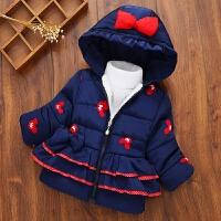 韩版童装2018冬装宝宝棉衣1-3-4岁女童加绒外套儿童加厚棉袄