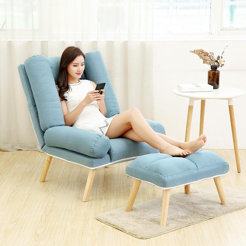 懒人沙发单人小户型懒人沙发单人阳台卧室小沙发小户型休闲简易折叠沙发午休房间躺椅