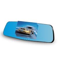 汽车行车记录仪单镜头高清夜视后视镜1080P