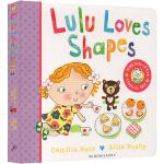 Lulu Loves Shapes 露露爱形状 露露系列纸板翻翻书 英文原版幼儿启蒙 露露大明星系列
