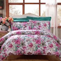 床单四件套纯棉1.8m床双人全棉套件1.5m床单被套床上用品定制