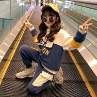 女童秋冬装套装儿童洋气时髦大童女孩运动两件套