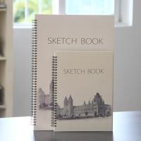 遵爵建筑物大图案速写本 铁圈速写本 写生本 素描本 笔记本