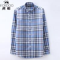 虎都亚麻棉料短袖衬衫男装立领中国