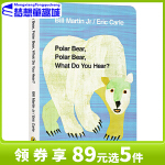 廖彩杏书单英文原版绘本 Polar Bear, What Do You Hear? 北极熊你听到了什么 艾瑞卡尔爷爷经