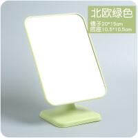 创意台式可爱便携长方形折叠化妆梳妆公主镜韩国桌面美容镜子