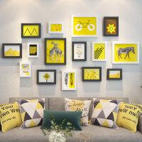 相片墙悬挂式 照片墙自粘贴免打孔客厅餐厅墙上装饰相框挂墙创意个性组合相片墙A