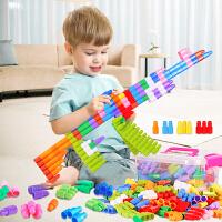 幼儿园早教益智男孩女儿童玩具3-6周岁4-7 大号子弹头积木塑料拼插