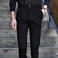 新款男士韩版修身商务休闲裤男西裤