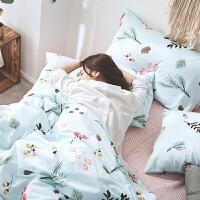 四件套全棉纯棉1.2米床上三件套ins风网红床单1.8m床上用品定制