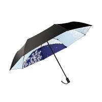 雨伞女晴雨两用太阳伞女折叠学生遮阳伞黑胶