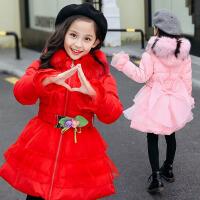 女童2018新款冬装棉衣洋气韩版公主加厚外套小女孩中长款棉袄