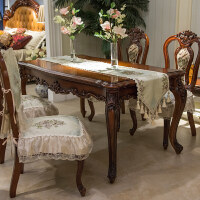 欧式餐椅垫坐垫滑餐桌布艺套装四季定做餐椅套凳罩桌旗定制 花香