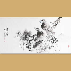 安徽省美术家协会会员张华先生作品――高瞻远瞩