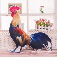 创意仿真母鸡抱枕靠垫大公鸡动物恶搞怪玩偶儿童毛绒玩具生日礼物创意公仔 如图