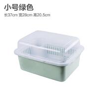 厨房碗柜塑料沥水碗架带盖碗筷餐具收纳盒放碗碟架滴水碗盘置物架