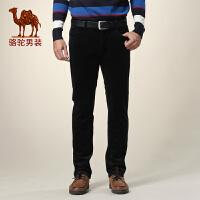 骆驼男装 夏装新款男士商务休闲长裤中腰直筒灯芯绒裤子