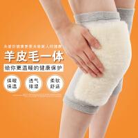 护膝 皮毛一体 羊毛护膝 秋冬 透气 防风 保暖 加厚