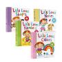 英文原版 Lulu系列4册合售 我爱露露系列绘本 纸板翻翻书 Lulu Loves Noises 幼儿英文启蒙认识绘本