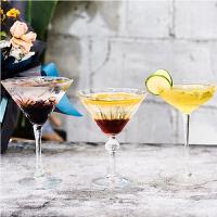 创意个性网红鸡尾酒杯马天尼杯玻璃三角高脚酒杯甜品杯冰激凌杯子
