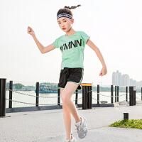 女童运动套装儿童夏装女套装女大童短袖短裤速干跑步服
