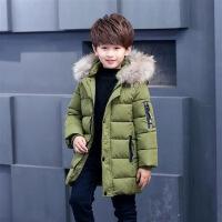 男童棉衣冬装中长款小女男学生韩版棉袄中大童加厚外套3-15岁