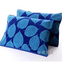 1条全棉枕巾 情侣加厚大透气吸水深色耐脏个性枕头巾定制