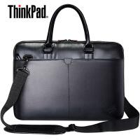 联想14寸笔记本单肩包T300,ThinkPad笔记本电脑包,原装15寸联想ThinkPad笔记本皮包(PU材质),背