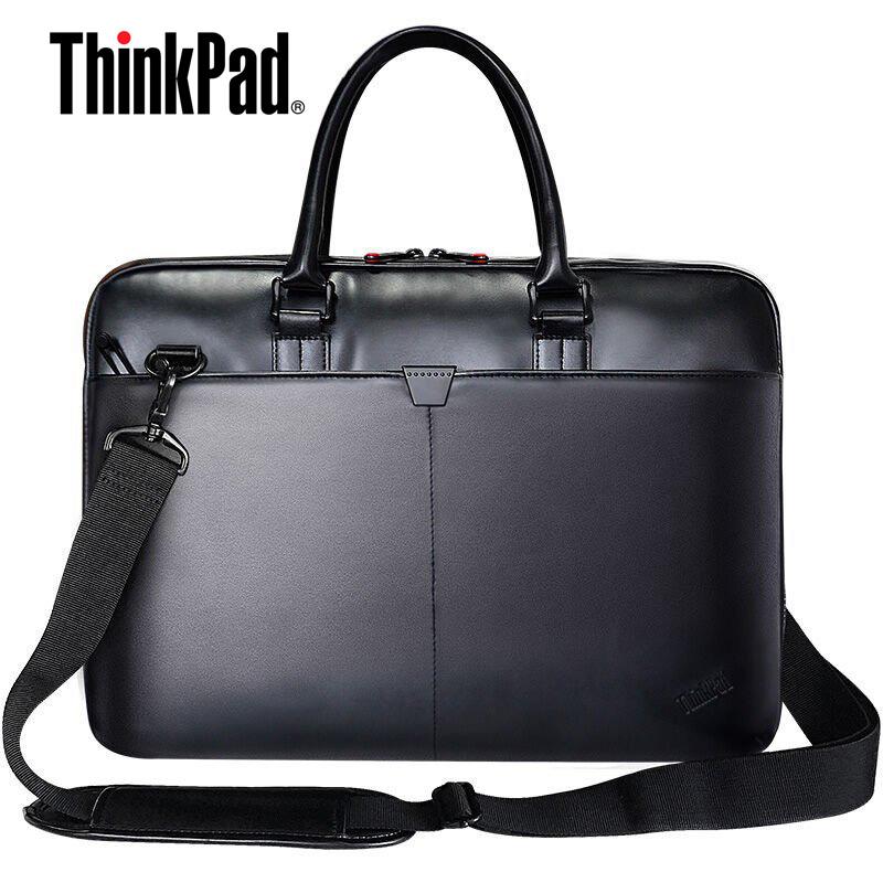 联想14寸笔记本单肩包T300 ThinkPad笔记本电脑包 ThinkPad电脑包 原装15寸联想ThinkPad笔记本包(PU材质),可套于旅行箱拉杆上 [包邮]联想原厂正品,商务精英,稳重大气