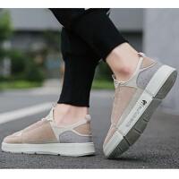 2019新款春季男鞋子韩版运动休闲个性板鞋简约百搭网布鞋潮鞋