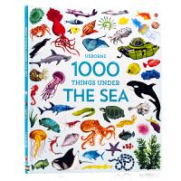 Usborne 海洋生物 1000 Things Under the Sea英文原版 儿童早教益智科普百科课外读物 启