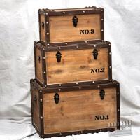 美式乡村复古原色木箱 收纳箱子橱窗陈列装饰 咖啡屋服装店影楼摄影道具箱