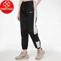 NIKE/耐克女裤新款运动裤跑步训练舒适透气宽松休闲梭织收口小脚长裤DC0041-010